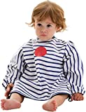 Baby-to-Love Smock, Long Sleeve Waterproof Art Bib Toddler 5-20mo (Blue Stripes)