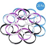 20 Pack Gaming Themed Bracelets,Vanten Game Party Supplies Kids Silicone Bracelet Birthday Party Supplies Favors Unisex Bracelets