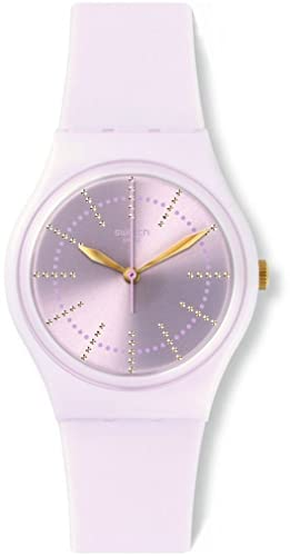 Amazon.com: Swatch GP148 Ladies Guinmauve Pink Silicone Strap Watch: Swatch: Watches