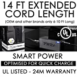 [UL Listed] Extra Long 14 Ft Battery-Charger for Irobot-Roomba 880 400 500 600 700 800 Series; 770 650 Pet 560 780 630 530 760 550 700 500 660 4210 540 415 4000 4150 535 532 Pwr+ AC-Adapter-Power-Cord