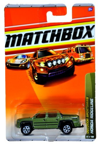 Mattel Year 2009 Matchbox MBX Outdoor Sportsman Series 1:64 Scale Die Cast Car #82 - Olive Green Mountain Trek 4x4 Sport Utility Truck HONDA RIDGELINE (R5016)