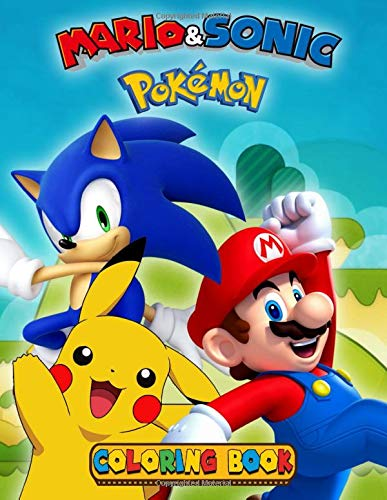 Mario Sonic Pokemon Coloring Book Fun Coloring Pages Featuring