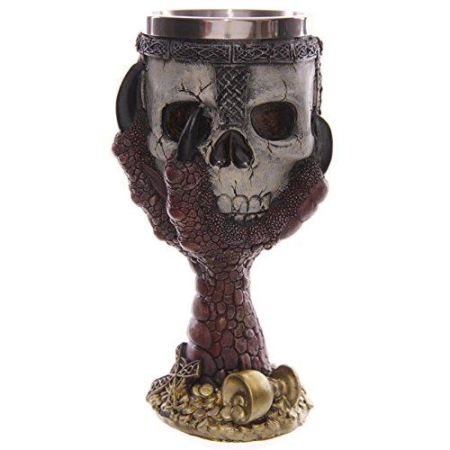 Diy Panther Costume (1Piece Dragons Claw Warrior Skull Gothic Goblet Gothic Spine Chalice Pagan Samhein Halloween Ornament)