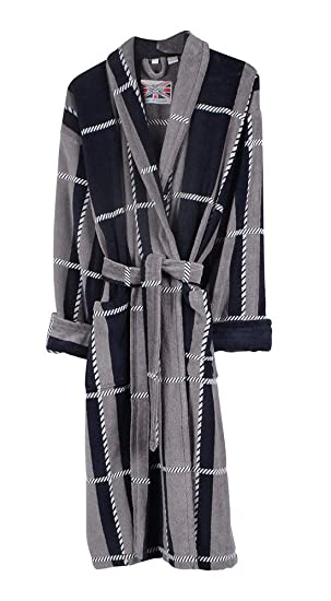 Mens Colorado 100% Egyptian Cotton Plush Shawl Collar Luxury Dressing Gown  - Large 80ad5964d