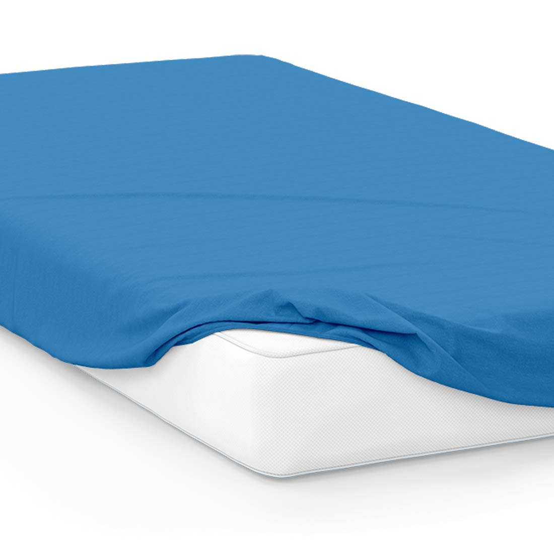 American Pillowcase College Dorm Twin XL Bed Fitted Mattress Sheet 100% Microfiber Ultra Soft Hypoallergenic Wrinkle-Free, Stain Fade Resistant - Blue PMS 2386C