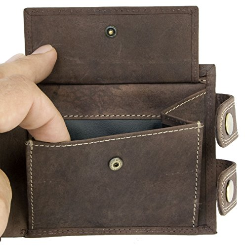 Men/'s Brown Biker/'s Genuine Leather Wallet with 20 Inch Long Chain to Hang