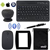 EEEKit Business Kit for Tablet/Phone,Ultrathin Bluetooth Keyboard,Bluetooth Wireless Waterproof Mini Speaker,Bluetooth Wireless Mouse,Mouse Pad,Stylus