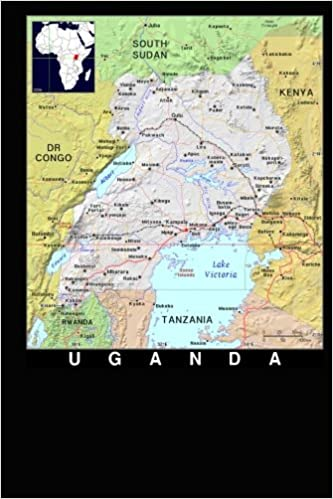 Modern Day Color Map Of Uganda In Africa Journal Take Notes Write