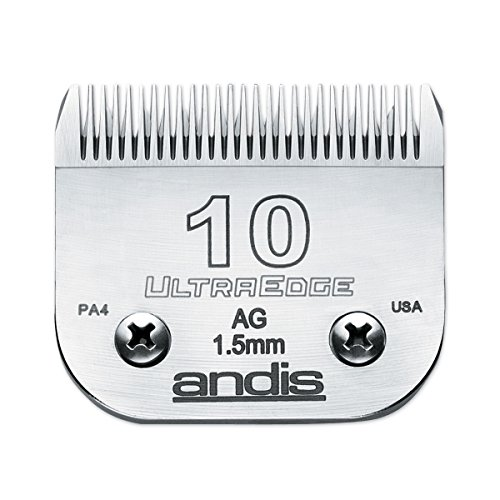 Andis Carbon-infused Steel Ultraedge Dog Clipper Blade, Size-10, 1/16-inch (Ultraedge Blades)