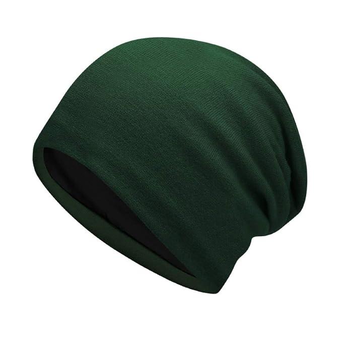 KWWA Gorro De Dormir Sombrero De Punto Simple Gorro del Mes Gorro De Algodón  para Mujer Gorra para Visera 7608438856e