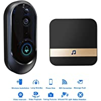 Video Doorbell, IP65 Waterproof Smart Doorbell with Indoor Chime, 2-Way Talk, Motion Detection, Wi-Fi Connected, 720p HD and App Control for iOS and Android