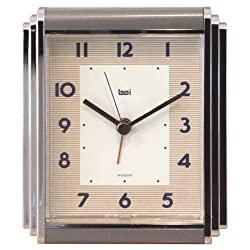 Bai Westchester Chrome-Plated Alarm Clock, Landmark