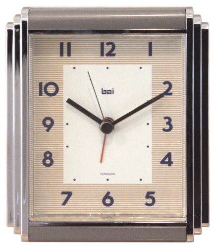 Chrome Plated Desk Clock - BAI Westchester Chrome-Plated Alarm Clock, Landmark