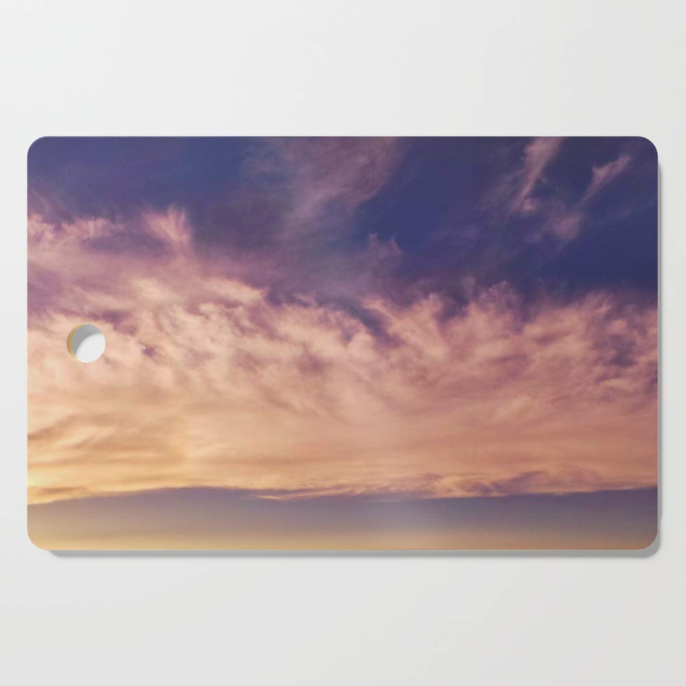 Society6 Wooden Cutting Board, Rectangular, Cloud Dance Sky by valourine
