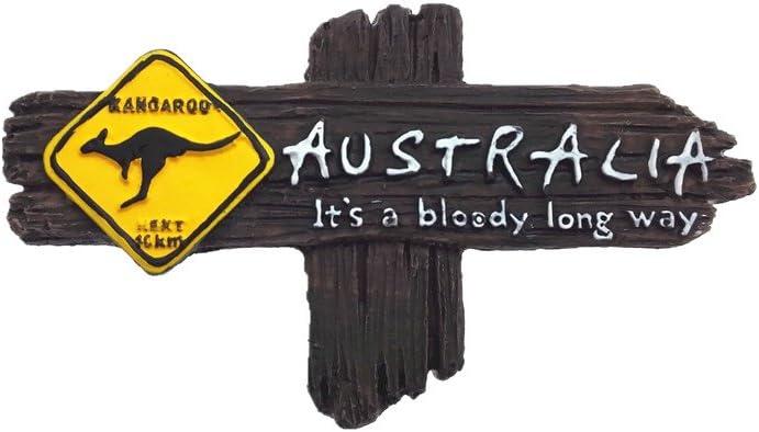 3D Refrigerator Magnet Fridge Magnets Wall Magnet Tourist Souvenir Arts Crafts Travelling Series Australia Kangaroos /& Koalas 2-Pack