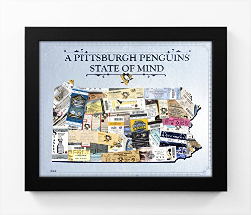 Pittsburgh Penguins State of Mind Framed Print - Pennsylvania