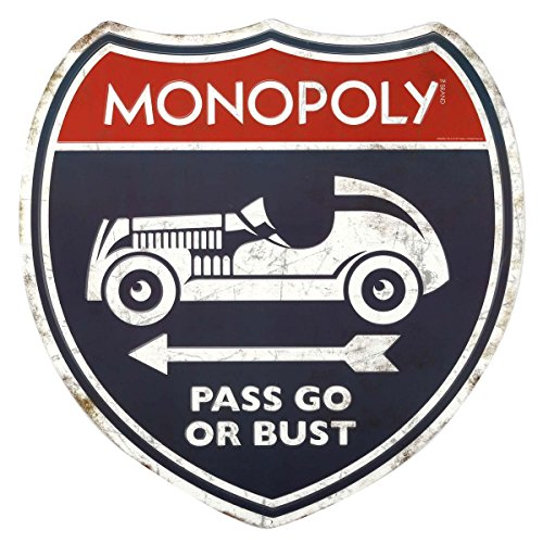 Open Road Brands Game Room Signs (Monopoly Pass Or Go)