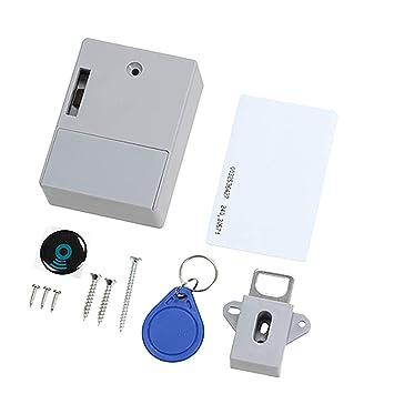 IC Card Sensor Digital RFID - Cerradura de cajón para Tarjetas de crédito, electrónica, Invisible, con Bloqueo RFID: Amazon.es: Bricolaje y herramientas