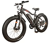 DJ Fat Bike 750W 48V 13Ah Power Electric Bicycle, 7 Speed, Matte Black, LED Bike Light, Suspension Fork and Shimano Gear For Sale
