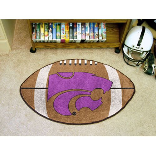 Fanmats Kansas State Wildcats Football-Shaped Mats