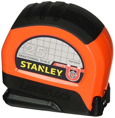 Stanley 33-270 25 LeverLock Tape Measure (Tape Measure Fractional)
