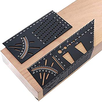 45 90 Degree Multifunctional Angle Ruler Measuring Tool Woodworking Gauge Square
