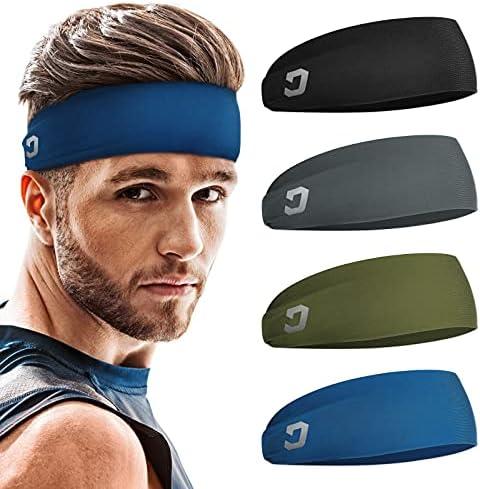 Cross Training BSTPOWER Mens Sweatband /& Sports Headband Moisture Wicking Workout Sweatbands for Running Yoga and Bike Helmet Friendly Headbands for Men and Women
