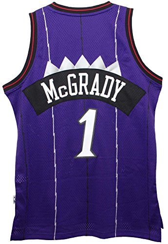 Tracy McGrady Toronto Raptors Purple Throwback Swingman Jersey Medium (Stitched Jersey Swingman)