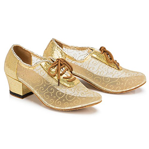 Meijunter Women Social Latin Dance Shoes Ballroom Modern Breathable Hollow Dancing Shoes AuWcaCq