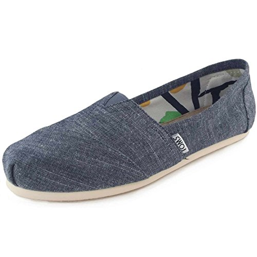 Toms Women's Classic Chambray Blue Chambray Casual Shoe 8.5 Women US
