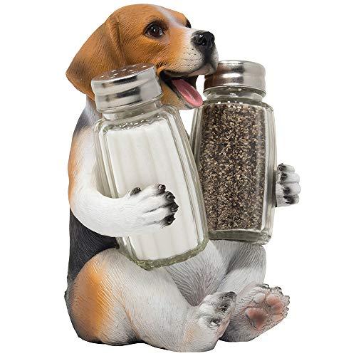 Beagle Puppy Dog Glass Salt and Pepper