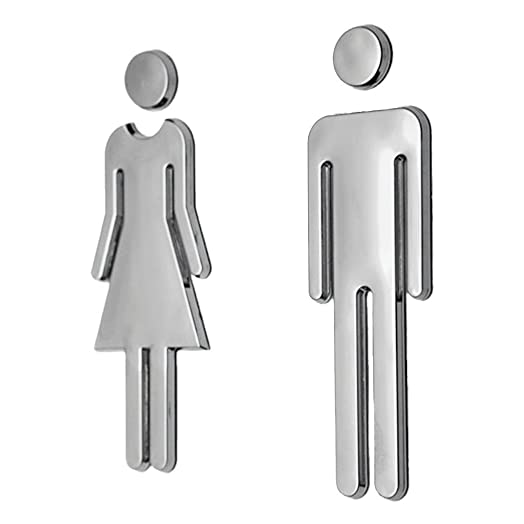Foopp Man Woman Self Adhesive Wc Toilet Signs Plaque Wall Stickers