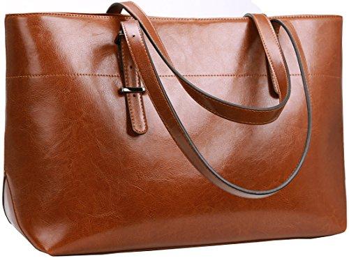 Image of Iswee Women's Shoulder Bag Large Handbag Soft Leather Tote Purses