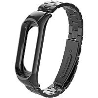 para Xiaomi Mi Band 3 Band-Becoler Metal Pulsera de Pulsera de Correa de Reloj de Acero Inoxidable para Xiaomi Mi Band 3