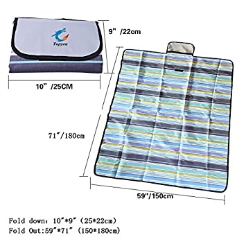 Picnic Blanket,Outdoor Beach Picnic Blanket,Waterproof Picnic Beach Blanket,Handy Mat with Strap for Camping Hiking Travelling 71 x 59