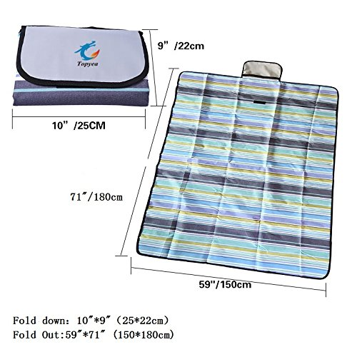 Picnic Blanket, Outdoor Beach Blanket, Waterproof Picnic Blanket, Handy Mat with Strap for Camping Hiking Travelling(71