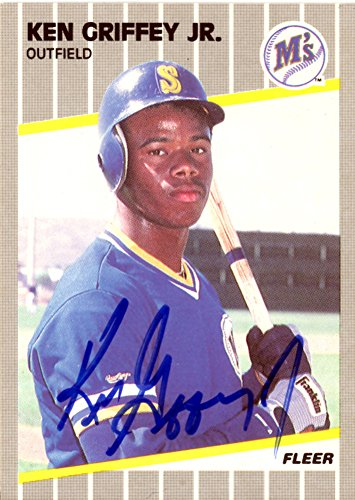 Ken Griffey Jr. Signed Autograph 1989 Fleer Rookie Card #548 Seattle Mariners Vintage Rookie Era Signature - PSA/DNA Certified from Sports Collectibles