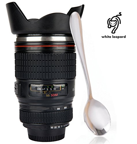 Whiteleopard Camera Lense Coffee Mug -13.5 oz Cup - Camera Lens Coffee Travel Mug