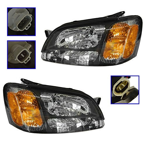 Headlights Headlamps Pair Set for Subaru Legacy GT Baja Outback (Headlight Legacy Lamp Subaru Headlamp)