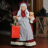 Northlight 24″ Mrs. Claus the Chef Standing Christmas Figure with Teddy Bear and Bag of Treats Review