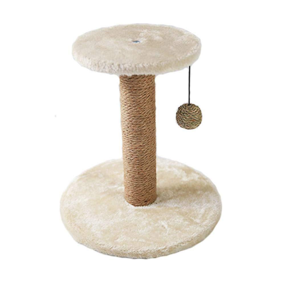 Beige Weiwei Cat Climbing Frame Cat Platform sisal Cat Grab Column for Sleeping Games 30cm 30cm  32cm