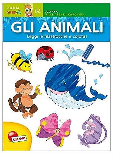 Amazon It Gli Animali Maxi Albo Da Colorare Aa Vv Libri