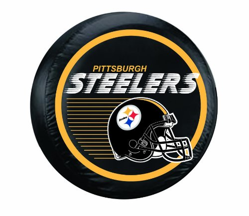 Fremont Die NFL Pittsburgh Steelers Large Tire Cover, Black by Fremont Die