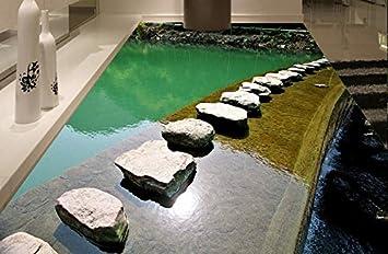 3d Fußboden Erstellen ~ Yosot tapete anpassen 3d flooring fluss streams tapete für wände