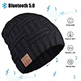 Bluetooth Beanie, Bluetooth Hat, Men's Gift Bluetooth Hat 5.0, Wireless Earphone Beanie Headphones with HD Stereo Speakers Built-in Microphone, Electronic Christmas Birthday Gifts for Men/Women