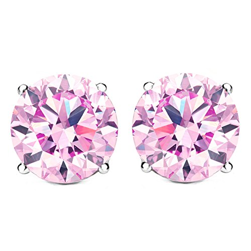 Valentines-Day-Gifts-for-Her-Jewelry-Deals - Cate & Chloe 2Ct. Beyonce Stud Earrings, Crystal Earrings, Stud Jewelry, Best Earrings for Women, Teens, Girls (Rose Quartz) - msrp $99