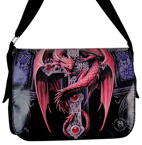 NEW ANNE STOKES FANTASY DRAGON MEDIEVAL ART, MESSENGER BAG **YOUR CHOICE OF ART** BY ACK (GOTHIC DRAGON)