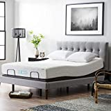 LUCID L300 Adjustable Bed Base - 5 Minute Assembly - Dual USB Charging Stations - Head