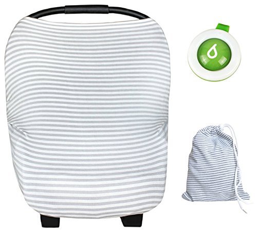 Multi-use Unisex Infinity Nursing FREE Clip Mosquito Bug Repellent - Stretchable breathable Infant-Baby Car seat Cover, Nursing Scarf, Breastfeeding, Stroller, Shopping Cover, for Boys and Girls