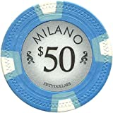 Milano Poker Chips by Claysmith Gaming. Casino Quality Clay Poker Chips in Sets of 25